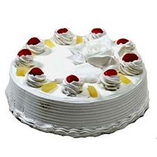 1 Kg Eggless Pineapple Cake delivery to India