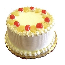 2 Kg Eggless Pineapple Cake delivery to India