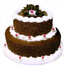 3.5kg 2 Tier Black Forest Cake delivery to India