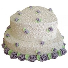 3.5 Kg Heart Shape 2 Tier Cake delivery to India