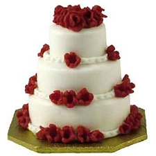 4.5kg 3tier Vanilla Cake delivery to India