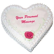 1 Kg Heart Shape Pineapple Cake delivery to India