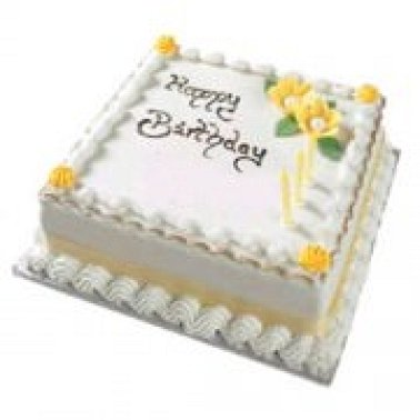 Superb 1 Kg Happy Birthday Vanilla Cake Online Cake To India Express Funny Birthday Cards Online Chimdamsfinfo