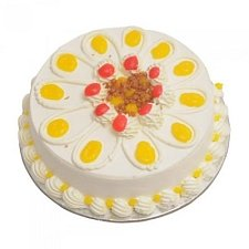 1 Kg Eggless Vanilla Cake delivery to India
