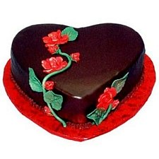 1 Kg Heart Shape Chocolate Truffle Cake delivery to India