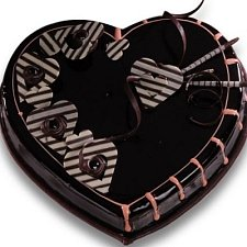 1 Kg Heart Shape Chocolate Cake delivery to India
