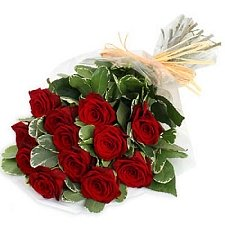 12 Red Roses Bouquet delivery to India