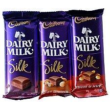 Cadbury Dairy Milk Silk - 3 Chocolates delivery to India