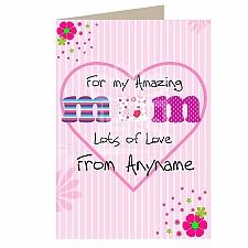 Amazing Mum - Personalised Cards
