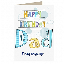 Happy Birthday Dad-Personalised Card