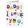 I Love Dady Card