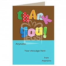 Thank You - Personalised Card