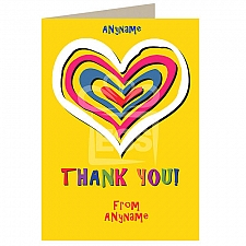 Thank You -Hearts- Personalised Card