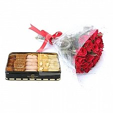 Mithai from Pearl Continental Hotel with Red Roses delivery to Pakistan