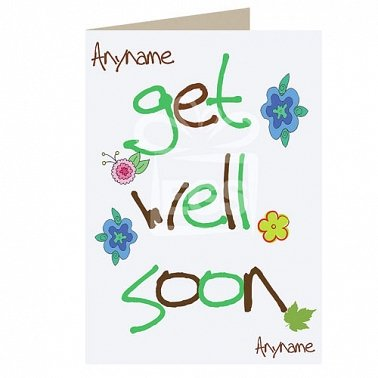 Get Well Soon Personalised Cards
