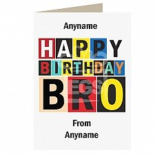 Happy Birthday Brother-Personalised Card