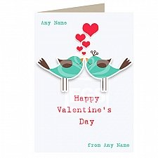 Happy Valentine Day-Personalised Card