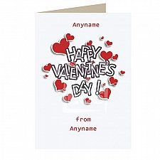 Valentines Day Hearts-Personalised Card