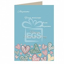 Happy Valentines Day-Personalised Message Card