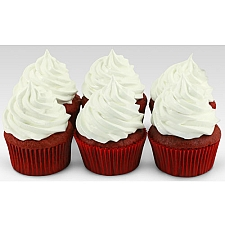 6 Assorted Red Velvet Addiction Cupcakes delivery to UAE