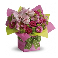 Pretty Pink Present Delivery to UAE