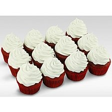 12 Assorted Red Velvet Addiction Cupcakes delivery to UAE