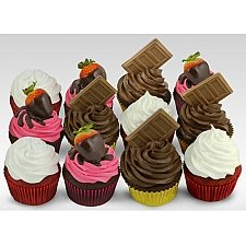 12 Assorted Triple Delight Cupcakes delivery to UAE
