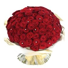 Ultimate 100 red Rose Hand tied Delivery to UAE