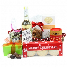Festive Nibbles Selection Basket Delivery to UK