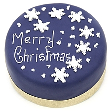 Snowflake Christmas Cake Delivery UK
