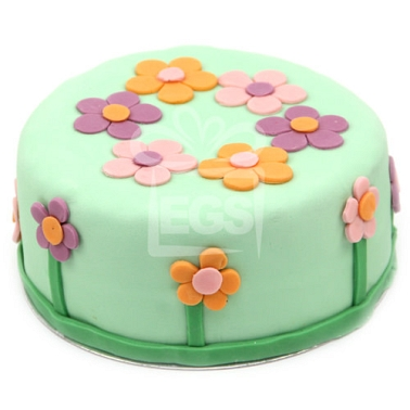 Peonies Birthday Cake