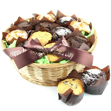 18 Assorted Muffins Basket delivery to UK [United Kingdom]