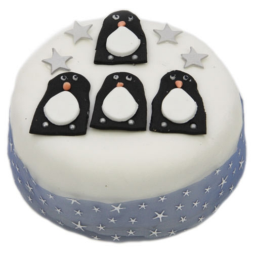 Penguins Christmas Cake Delivery to UK