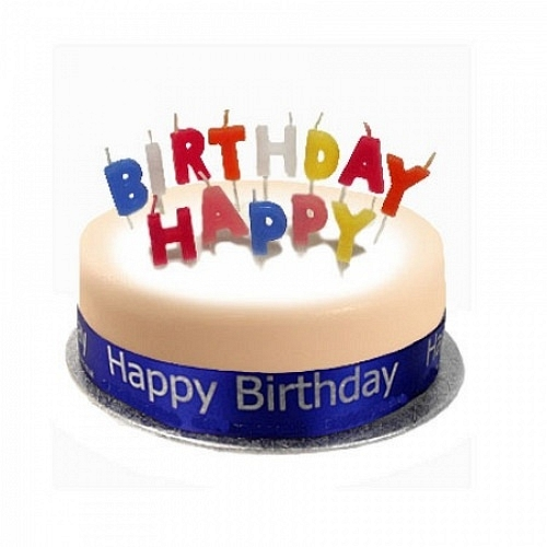 Birthday Cake Sponge Blue - Delivery UK