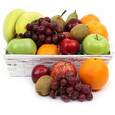 Tremendous Get Well Fruit Basket Fruit Delivery Uk Expressgiftserviceuk Easy Diy Christmas Decorations Tissureus