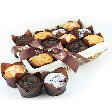 12 Assorted Muffins Basket delivery to UK [United Kingdom]