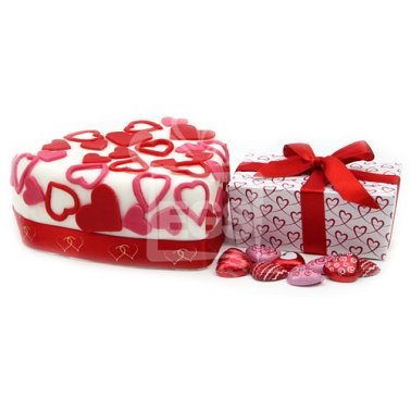 Chocolate Heart Gift delivery UK