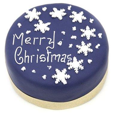 Snowflake Christmas Cake Delivery UK