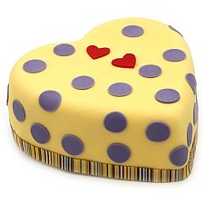 Hearts and Dots Cake