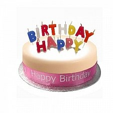 Birthday Cake Sponge Pink Delivery to UK