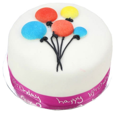 Balloon Celebration Cake For Girl