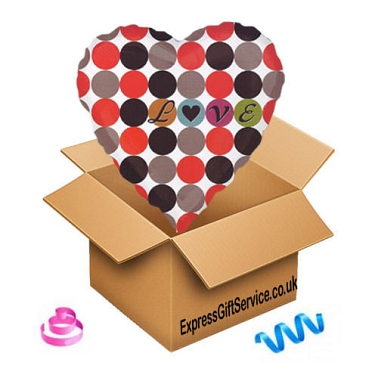 Dots Love Balloon delivery UK