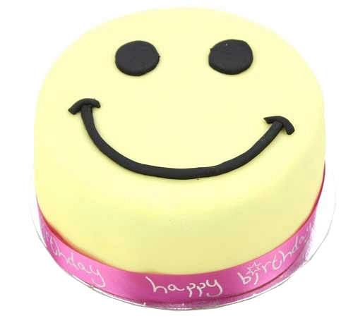 Smiley Celebration Cake For Girl delivery to UK [United Kingdom]
