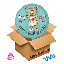 Get Well Soon Teddy Balloon Delivery UK