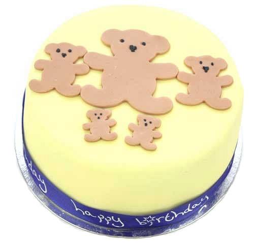 Teddy Birthday Cake For Boy delivery to UK [United Kingdom]