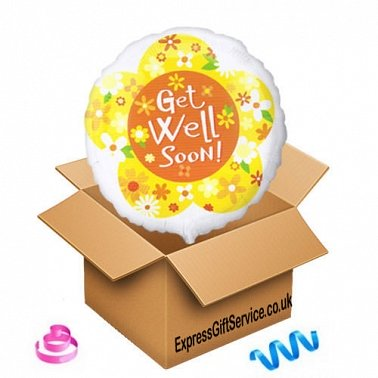 Get Well Soon Yellow Balloon Delivery UK