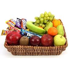 Crunchy Bar Fruit Basket delivery to UK [United Kingdom]