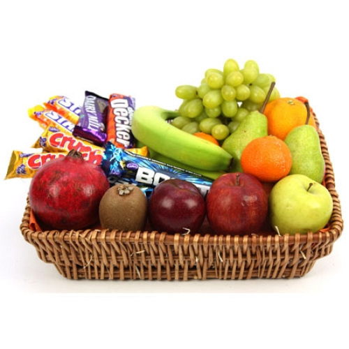Crunchy Bar Fruit Basket delivery to UK [United Kingdom]