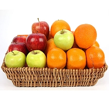 Crunchy Apples and Orange Fruit Basket delivery to UK [United Kingdom]