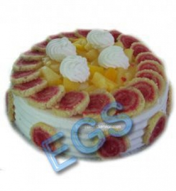 4lbs Pineapple Wafers Cake Delivery To Pakistan